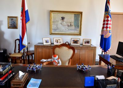 NAO robots at the President's office